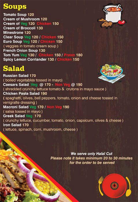 Cafe Rossini menu 3