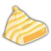 ビーズクッション黄