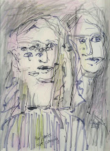 """Photo: the poets are coming, 2013, Brenda Clews, 9""""x 12"""", 22.9cm x 30.5cm, art pens on 80lb archival Strathmore drawing paper"""