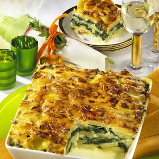 Potato and Spinach Gratin
