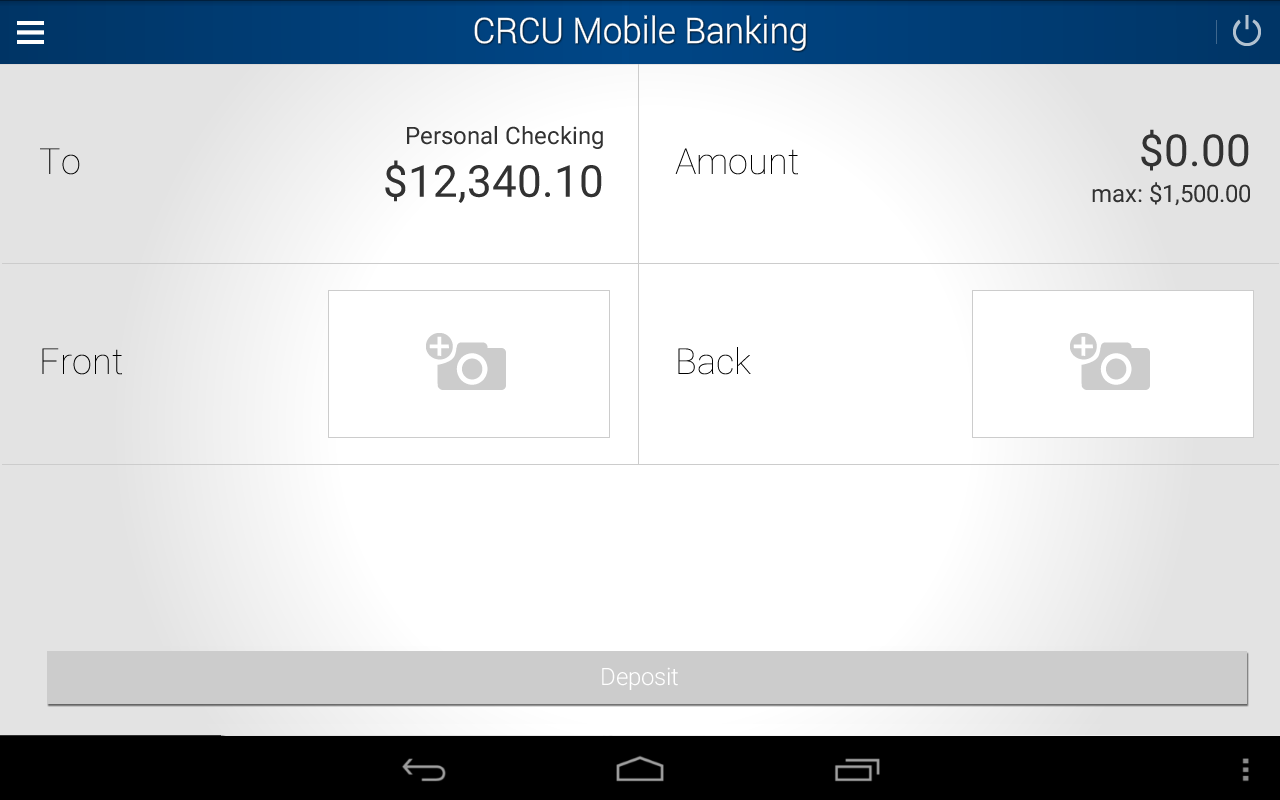CRCU Mobile Banking- screenshot