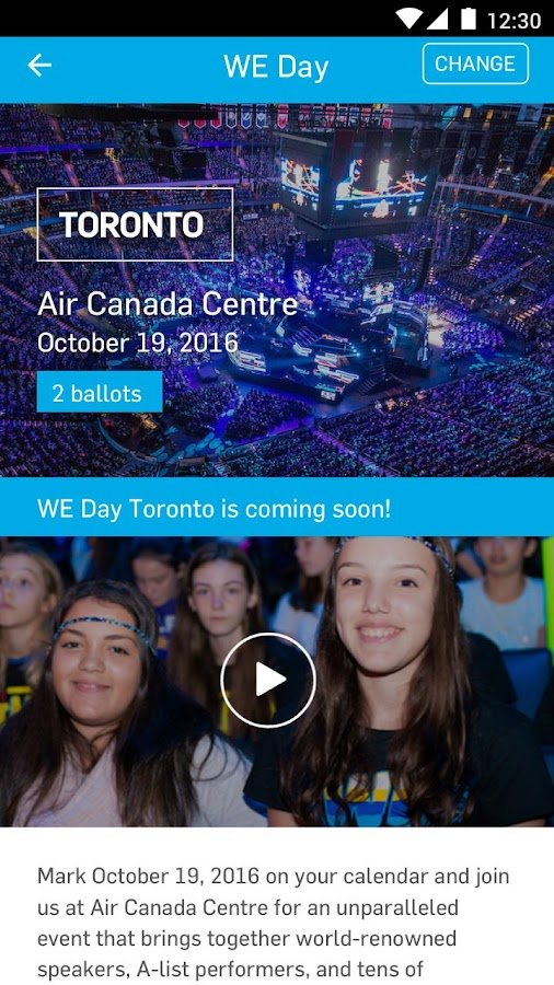 WE Day- screenshot