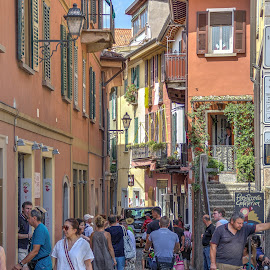 Bellagio Street Lake Como by G. Stetson - City,  Street & Park  Markets & Shops