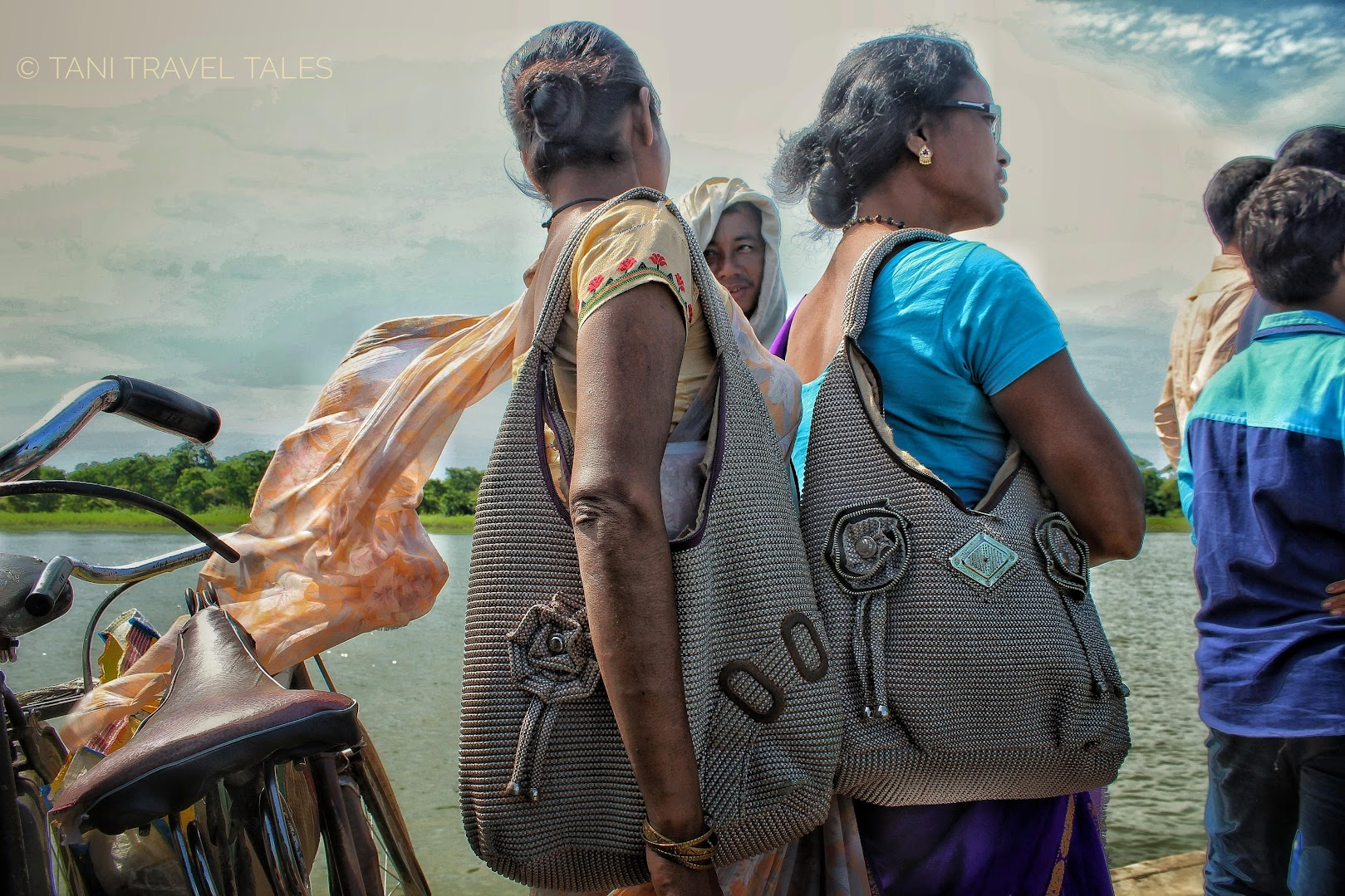 Spotted HandBag Sisters and Nain Matakka on Brahmaputra Shores