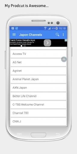 Japan TV sat info