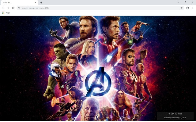 Avengers New Tab & Wallpapers Collection