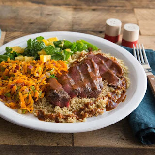 Jamaican BBQ Sirloin Steak with Quinoa