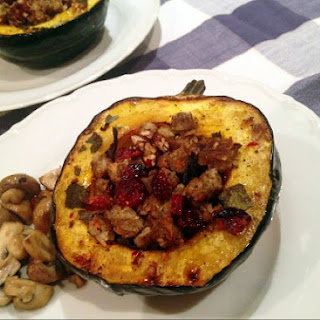 Acorn Squash Stuffed with Mushroom Rice Burger