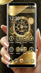 Clock Luxury Gold Theme