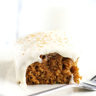 Zucchini Spice Cake with Cream Cheese Frosting.