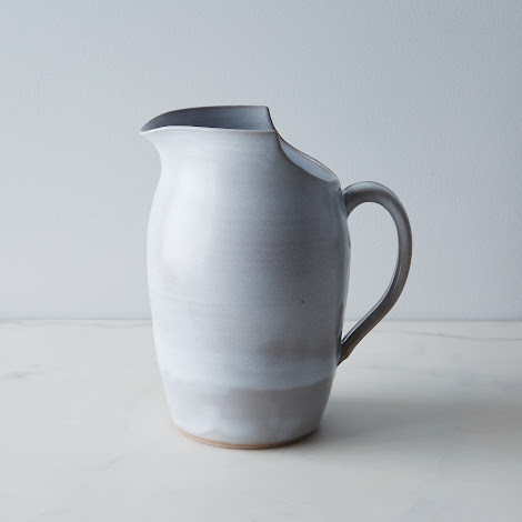Large Cut Rimmed Pitcher