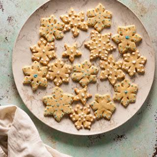 Orange Cardamom Snowflake Cookies Recipe