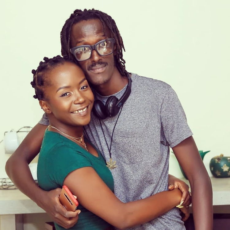 Kansiime with her current boyfriend Skylanta