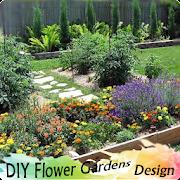 DIY flower gardens design icon