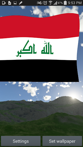 Iraq Flag Live Wallpaper 3D