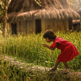Little girl red by Dominic Meily - News & Events World Events ( field, streetphotography, red, girl, dominicmeily, meily )