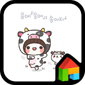 bebe(cow) Dodol launcher theme