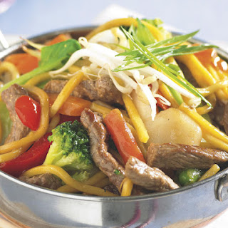 Beef and Noodle Stir Fry.