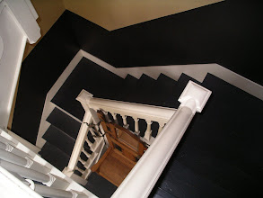 Photo: the winding central staircase, typical of the 1700's.