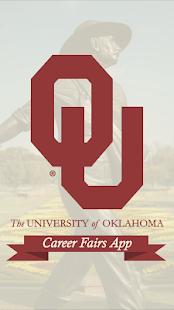 OU Career Fairs App - náhled