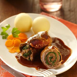 Rouladen mit Spinat-Baconfüllung