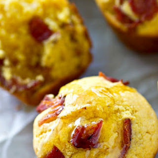 Browned Butter Bacon Cornbread Muffins