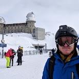 Snowboarding on the Gornergrat in Zermatt, Switzerland in Zermatt, Valais, Switzerland