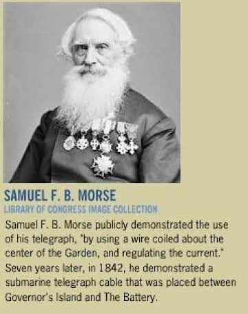 Image result for 1838, Samuel Morse demonstrates his telegraph system