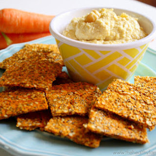 Raw Vegan Carrot and Flax Crackers.