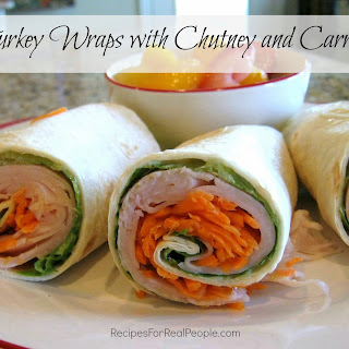 Turkey Wraps With Chutney and Carrots