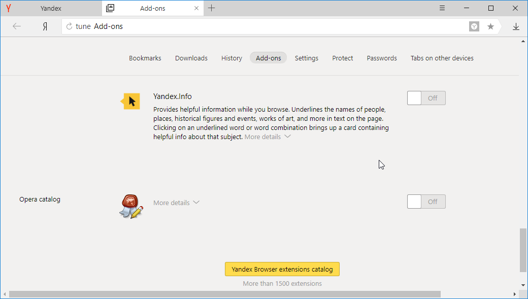 thumbapps.org Yandex portable browser, yandex addons