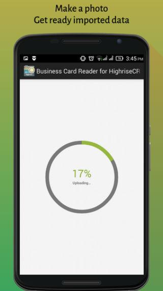 Business Card Reader for Highrise CRM- screenshot