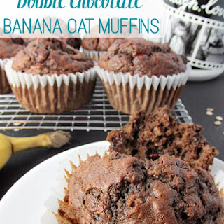 Double Chocolate Banana Oat Muffins