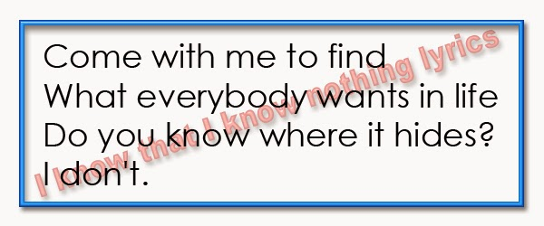 Photo: I know that I know nothing lyrics