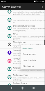 Activity Launcher Screenshot
