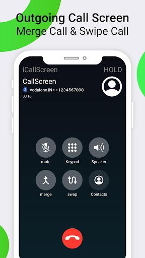 iCallScreen - OS14 Phone X Dialer Call Screen 1.3.7 screenshots 2