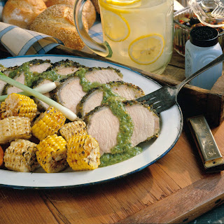 Grilled Chimichurri Pork Roast.