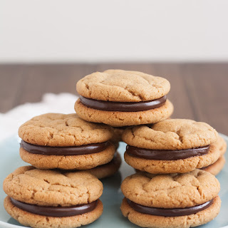 Peanut Butter and Chocolate Sandwich Cookies