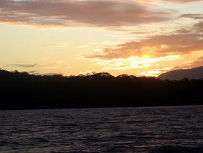 Photo: Sunset as we enter Coalbins Bay at Recherche/Research