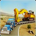 Construction Machines Transporter Truck icon