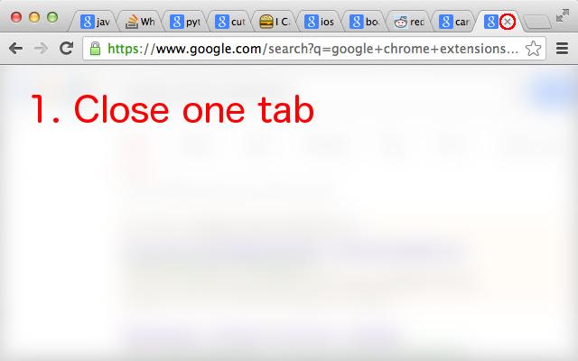 Predictive tab closing