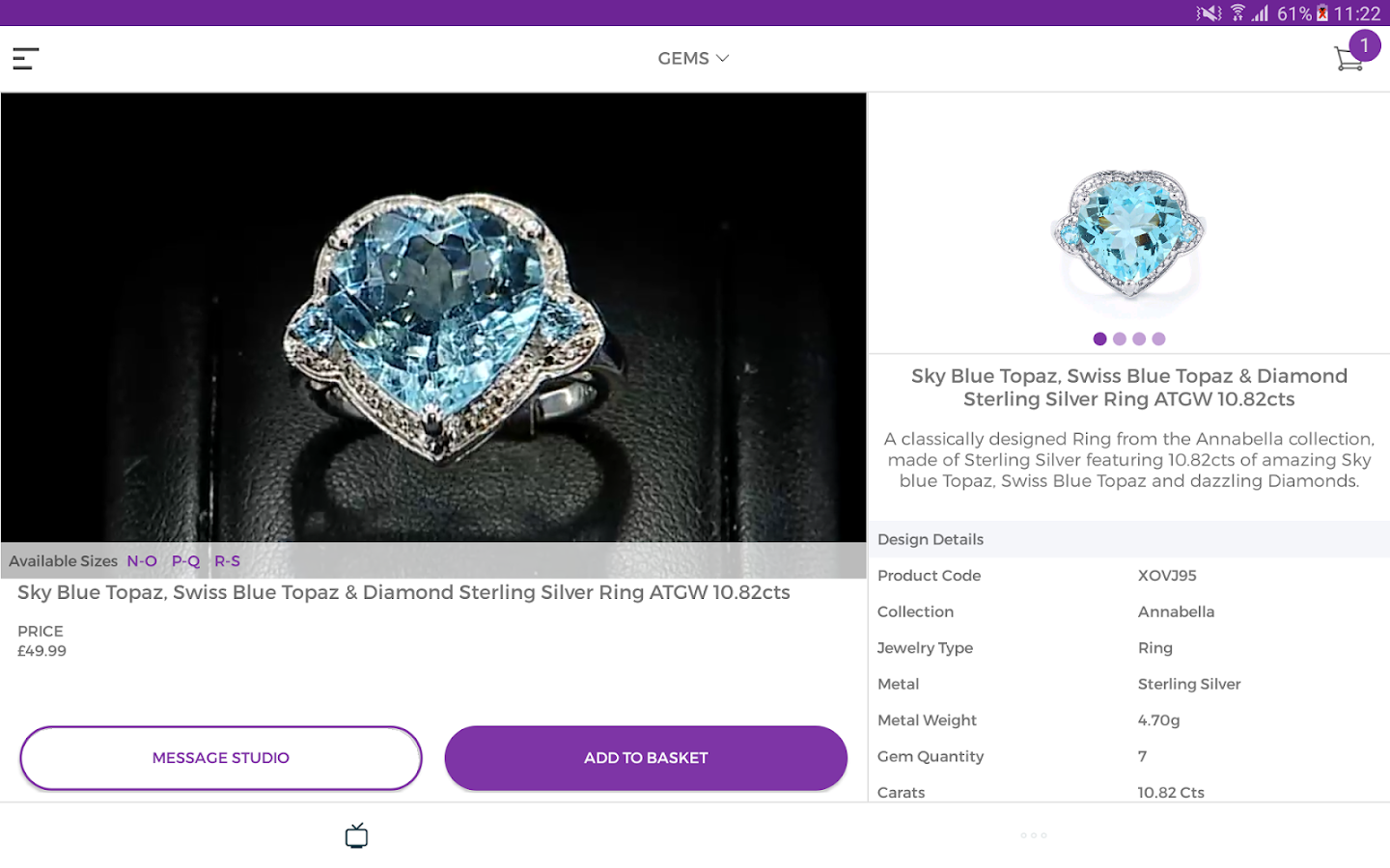 Gemporia Jewellery Auctions- screenshot