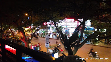 Photo: Sivatha Road, Siem reap, early evening.