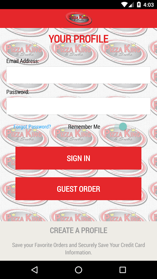 Pizza King Delivers- screenshot