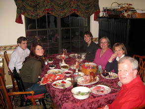 Photo: Christmas dinner was at the Rooneys; it was splendid!