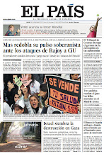 Photo: En la portada de EL PAÍS del 19 de noviembre: Mas redobla su pulso soberanista ante los ataques de Rajoy a CiU; Israel siembra la destrucción en Gaza; Tres policías revelan al juez los fallos mortales en el Madrid Arena. http://srv00.epimg.net/pdf/elpais/1aPagina/2012/11/ep-20121119.pdf