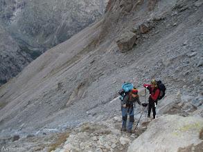 Photo: El sendero corta la ladera