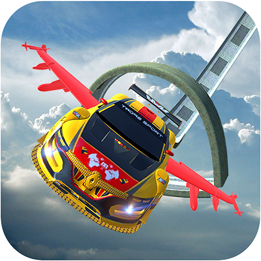 Flying Car Extreme Stunts Driving