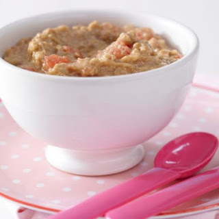 Melon Porridge with Oats.