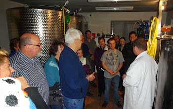 Photo: Dr. C telling his tales of the good water for making his beer coming from a nearby cemetery!